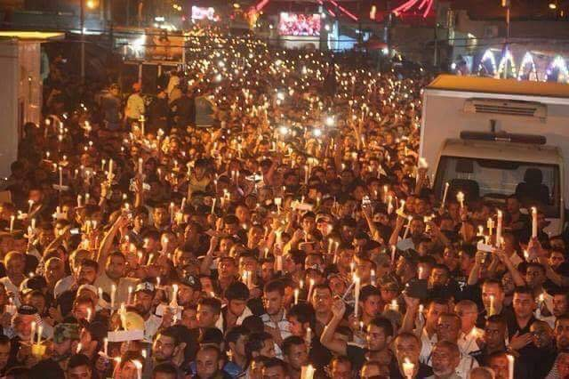 مسيرة الشموع بالحسيمة: خروج الآلاف من الحسيميين (صور)