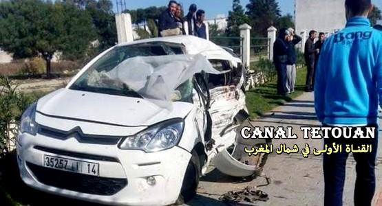 مصرع 4 أشخاص في حادثة سير مروعة بمدخل طنجة (شاهد الصور)