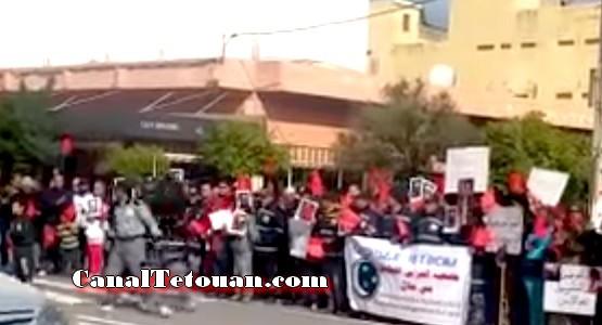 كلنا البوليسي كلنا الحموشي.. عبارات رددها عشرات المواطنين للتضامن مع رجال الشرطة (شاهد الفيديو)