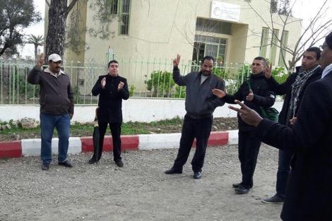 الأساتذة المتدربون يخوضون وقفة احتجاجية بمدينة وزان