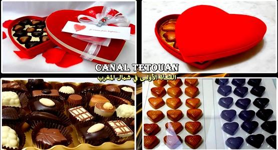 """متجر Chocolat Belge بتطوان يقدم لكم """"قُـلـُوب"""" من الشوكولاتة الرفيعة لتقديمها كهدايا قيمة !"""