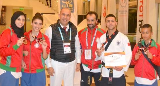 فريق جمعية شباب تطوان للتيكواندو يشرف المغاربة في الدوري الدولي بتركيا