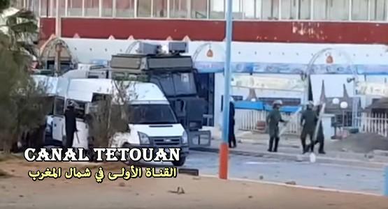 إصابات خطيرة ورصاص مطاطي في اشتباكات بين قوات الأمن ومتظاهرين بالحسيمة (شاهد الفيديو)