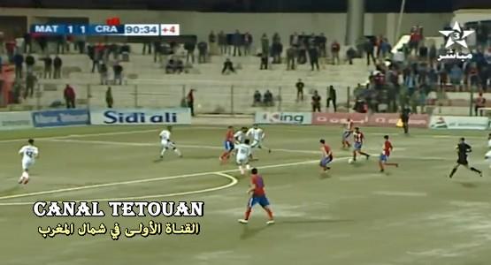 أهداف مباراة المغرب التطواني 2-1 شباب الريف الحسيمي (شاهد الفيديو)
