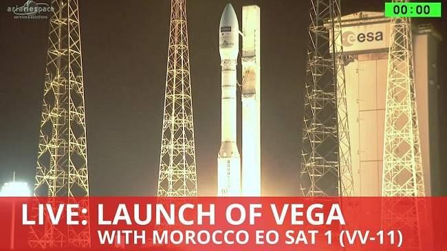 القمر الصناعي المغربي يصل إلى مداره بنجاح … إليكم التفاصيل الكاملة لعملية الإطلاق (فيديو)