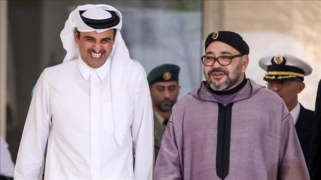 أول زيارة منذ اندلاع أزمة الخليج .. هذا ما ناقشه الملك مع أمير قطر !