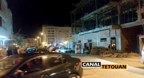 اصابة عاملين اثر سقوط سقف عمارة في طور البناء بولاية سانتر بتطوان