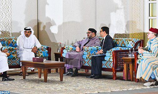 الملك محمد السادس يتباحث بالدوحة مع أمير قطر
