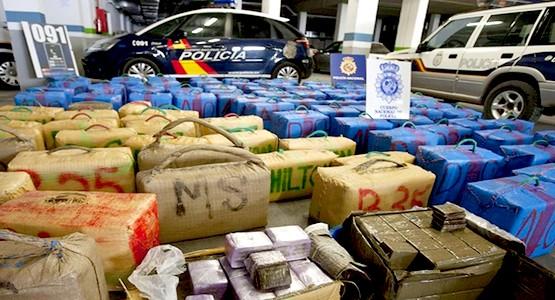 الشرطة الإسبانية تحجز حوالي طنين من الحشيش قادمة من شمال المغرب