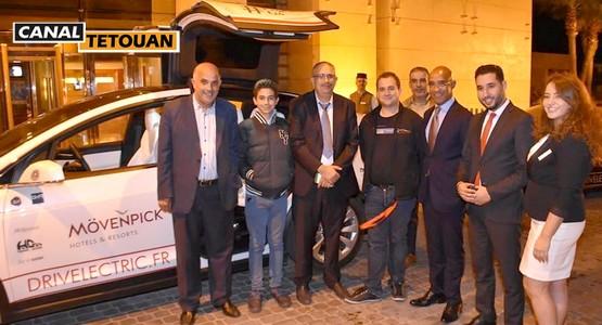 قافلة رالي السيارات الكهربائية المحافظة على البيئة تعبر مدينة طنجة