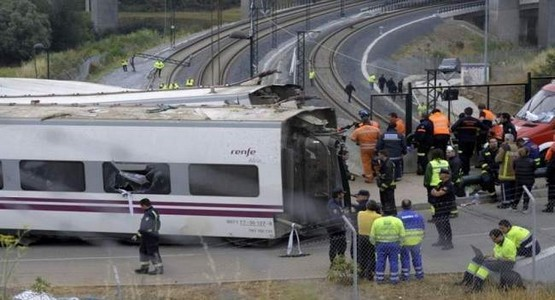 إسبانيا : إصابة 39 شخص بجروح في حادث قطار قرب مدريد