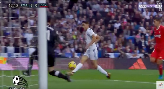 هدف المغربي اشرف حكيمي مع ريال مدريد في مرمى اشبيلية (فيديو)