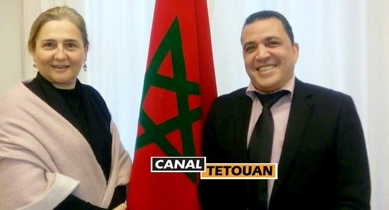 سفيرة المغرب بالنرويج تستقبل جلال التطواني
