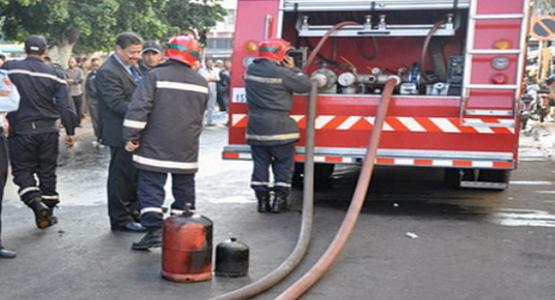 اصابة شخصين اثر انفجار قنينة غاز بمجمع سكني بمرتيل