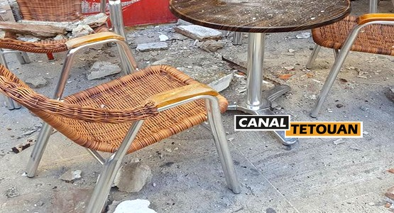 """سقوط سقف مقهى """"كونتيننتال"""" بتطوان على رأس مواطن (صور)"""