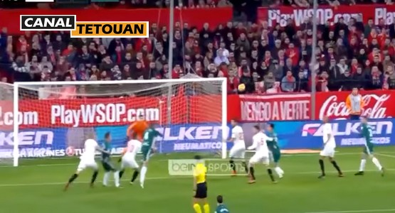 التطواني زهير فضال يتألق مع ريال بيتيس ويسجل هدفا ضد إشبيلية (شاهد الفيديو)