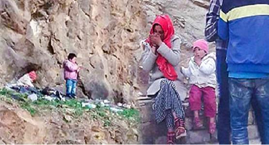 """حملة لإنقاذ أم """"مدمنة"""" وأطفالها الأربعة من التشرد بباب سبتة"""