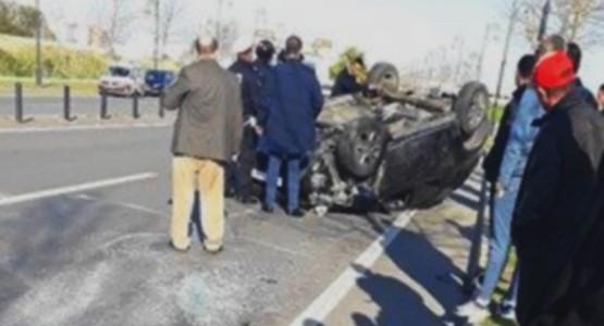 حادثة سير هوليودية بالطريق الدائري بتطوان (شاهد الصور)