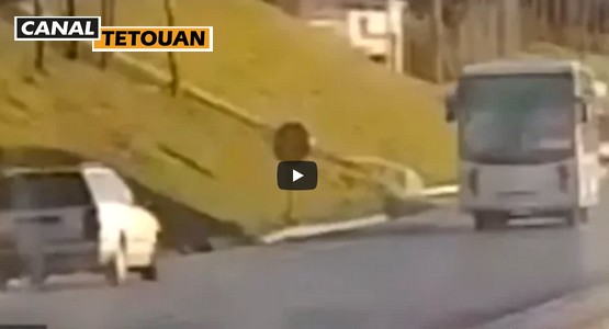 سائق متهور يقود السيارة في الاتجاه المعاكس بمدخل مدينة تطوان (شاهد الفيديو)