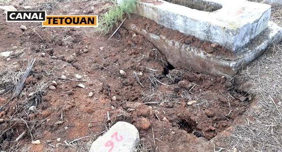 العثور على عظام بالية وسط مقبرة بمنطقة أمتار الواقعة بين تطوان_الحسيمة