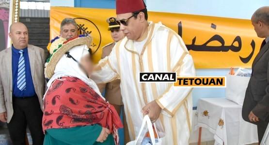 """عامل عمالة المضيق الفنيدق يعطي انطلاقة عملية الدعم الغذائي """"رمضان 1439هـ"""" +صور"""