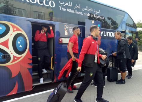 بعثة المنتخب المغربي ترحل إلى موسكو استعداد لمباراة البرتغال
