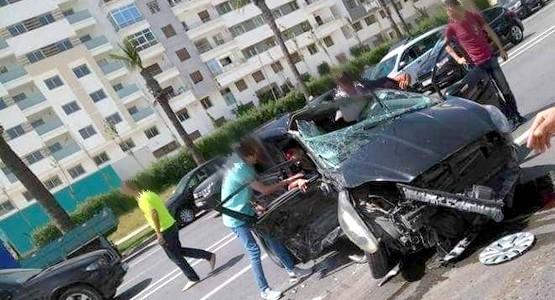 اصابات خطيرة لــ 13 شخص في حادثة سير بقنطرة بن ديبان بمدينة طنجة (شاهد الصور)