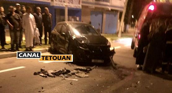 حادثة سير خطيرة قبل أذان الفجر في مرتيل (شاهد الصور)