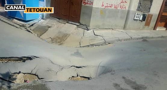 تشققات في جدران المنازل بمرتيل … والأوضاع تنذر بكارثة حقيقية (شاهد الصور)