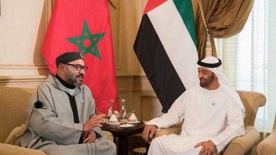 الشيخ بن زايد يرحب بالملك محمد السادس بالإمارات (شاهد الفيديو)