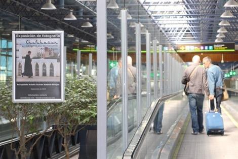 مطار العاصمة الاسبانية مدريد يحتفي بمدينة شفشاون