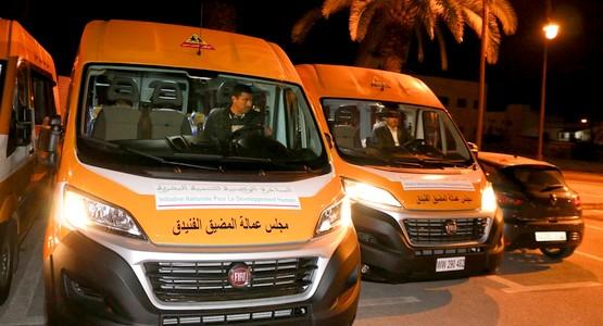 مجلس عمالة المضيق الفنيدق: منح خمس حافلات للنقل المدرسي بالعليين وبليونش