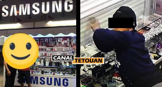 """شرطة تطوان تعتقل سارقي محل """"سامسونغ"""" بمرتيل (شاهد الصور)"""