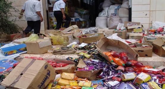 حجز وإتلاف حوالي 325 طنا من البضائع الفاسدة بجهة الشمال