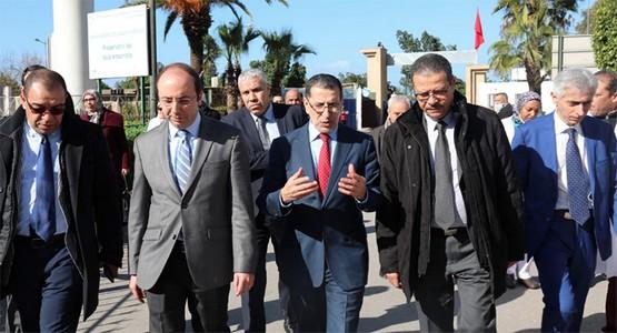العثماني و الدكالي في زيارة ميدانية للوقوف على عملية التكفل بالمصابين بأنفلونزا (أش1أن1)