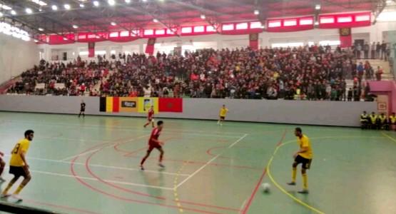 المنتخب الوطني يتفوق على المنتخب البلجيكي بالقاعة المغطاة الطيب البقالي بتطوان