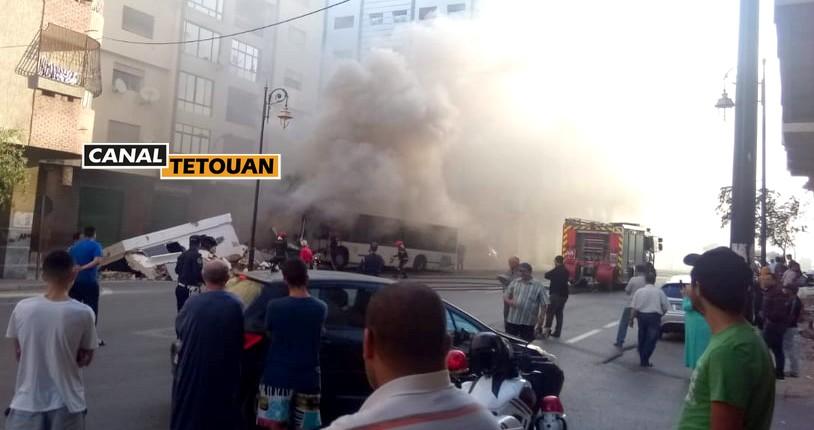 اصابات خطيرة في صفوف ركاب حافلة فيطاليس بعد اصطدامها بمحول كهربائي بتطوان (شاهد الصور)