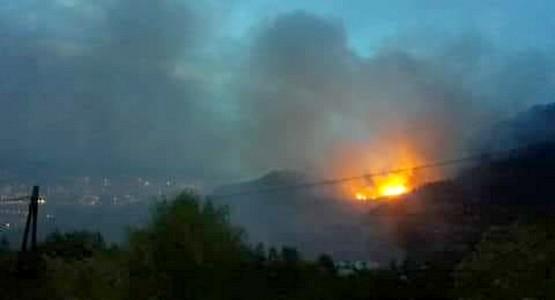 حريق يلتهم مساحة كبيرة من الغطاء الغابوي بمنطقة بن قريش ضواحي تطوان