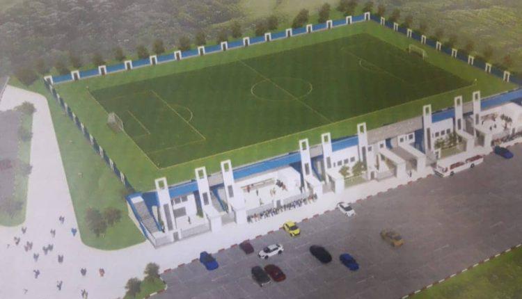 إعطاء انطلاقة بناء ملعب لكرة القدم بمرتيل