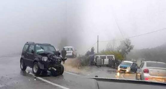 حادثة سير خطيرة على مستوى الطريق الوطنية الرابطة بين تطوان و الحسيمة