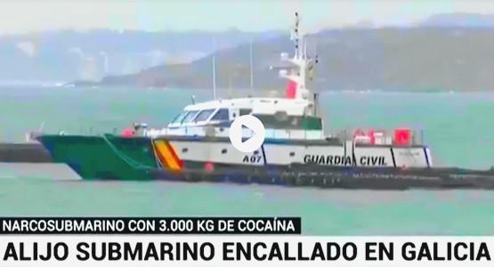 إسبانيا تضبط غوّاصة محمّلة بطنين من الكوكايين