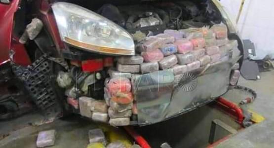 حجز 624 كلغ من مخدر الشيرا داخل هيكل سيارة بمعبر سبتة