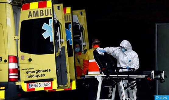 تراجع حصيلة الوفيات اليومية بكورونا في إسبانيا