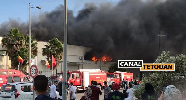 حريق مهول بمصنع الكابلاج بطنجة (شاهد الصور)