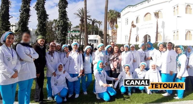 الدكتور البناني يعفي متدربي معهد Sante Plus لتكوين الممرضين بتطوان من أداء شهرين