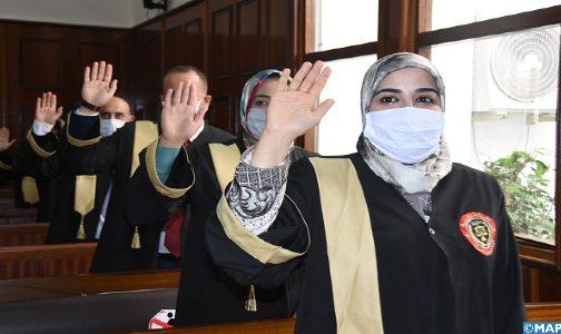 العدول الجدد يؤدون اليمين القانونية أمام محكمة الاستئناف لتطوان