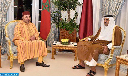 الملك محمد السادس يتلقى اتصالا هاتفيا من أمير قطر