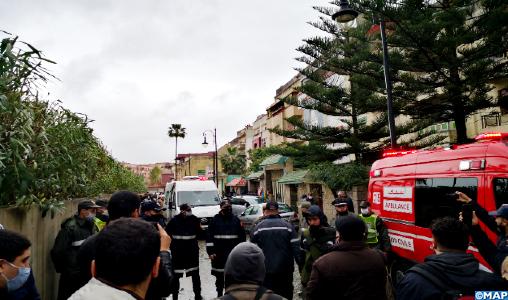 انتشال جثث 24 شخصا لقوا حتفهم في مصنع للنسيج بطنجة