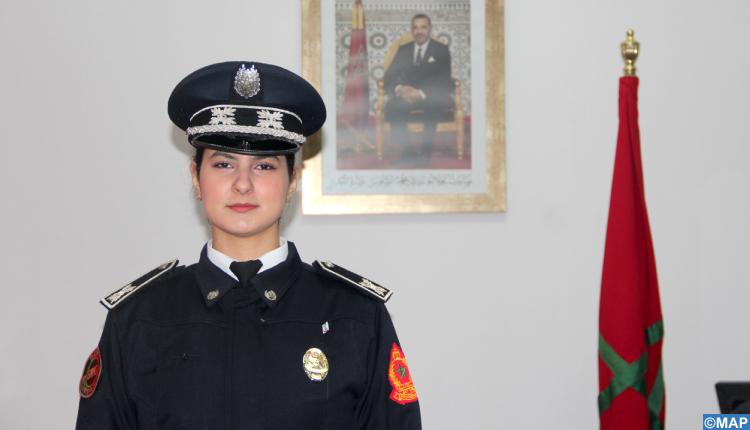 ضابط الأمن رانيا صابوني، مثال للتفاني والجدية بالمجموعة المتنقلة لحفظ النظام بتطوان