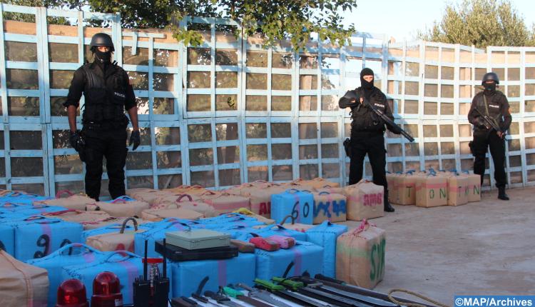 أصيلة .. إجهاض عملية للتهريب الدولي للمخدرات وحجز أربعة أطنان وستين كيلوغرام من مخدر الشيرا